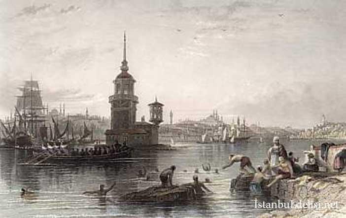 1840-tarihli-bir-çizim-Kızkulesi